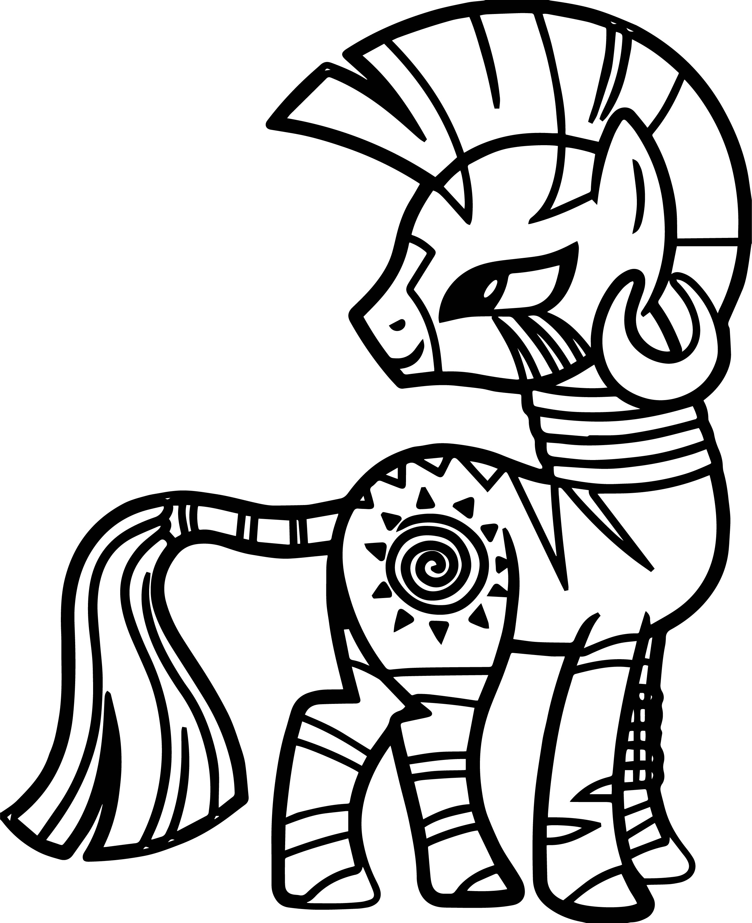 Zecora Back Look Coloring Page