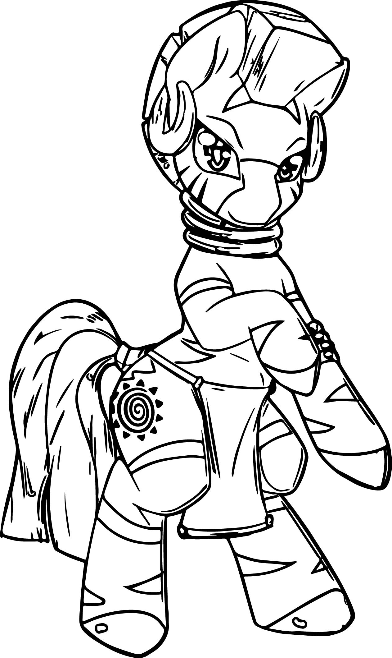 Zecora Dance Coloring Page