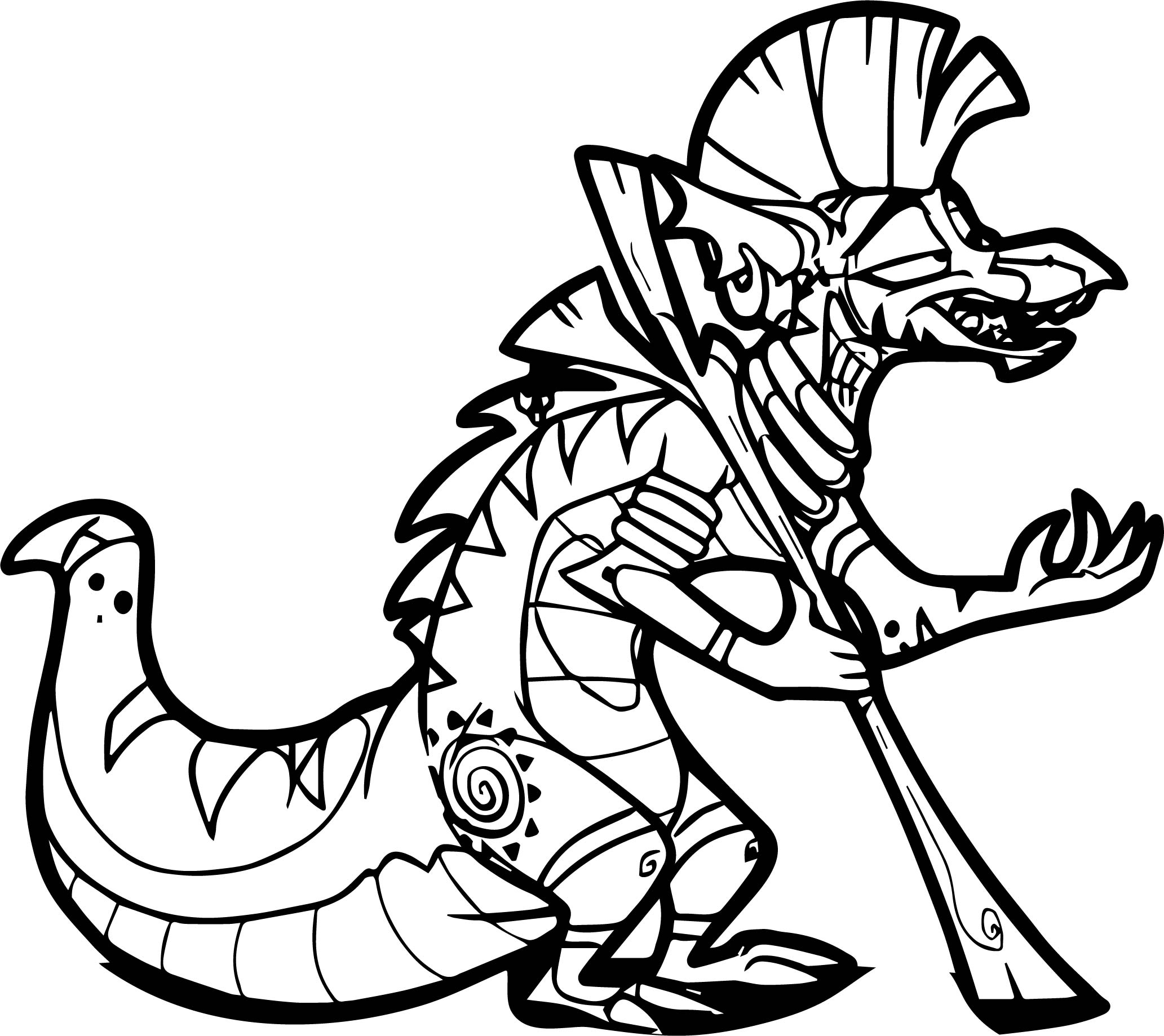 My Little Pony Zecora Coloring Pages : Zecora dragonification coloring page wecoloringpage