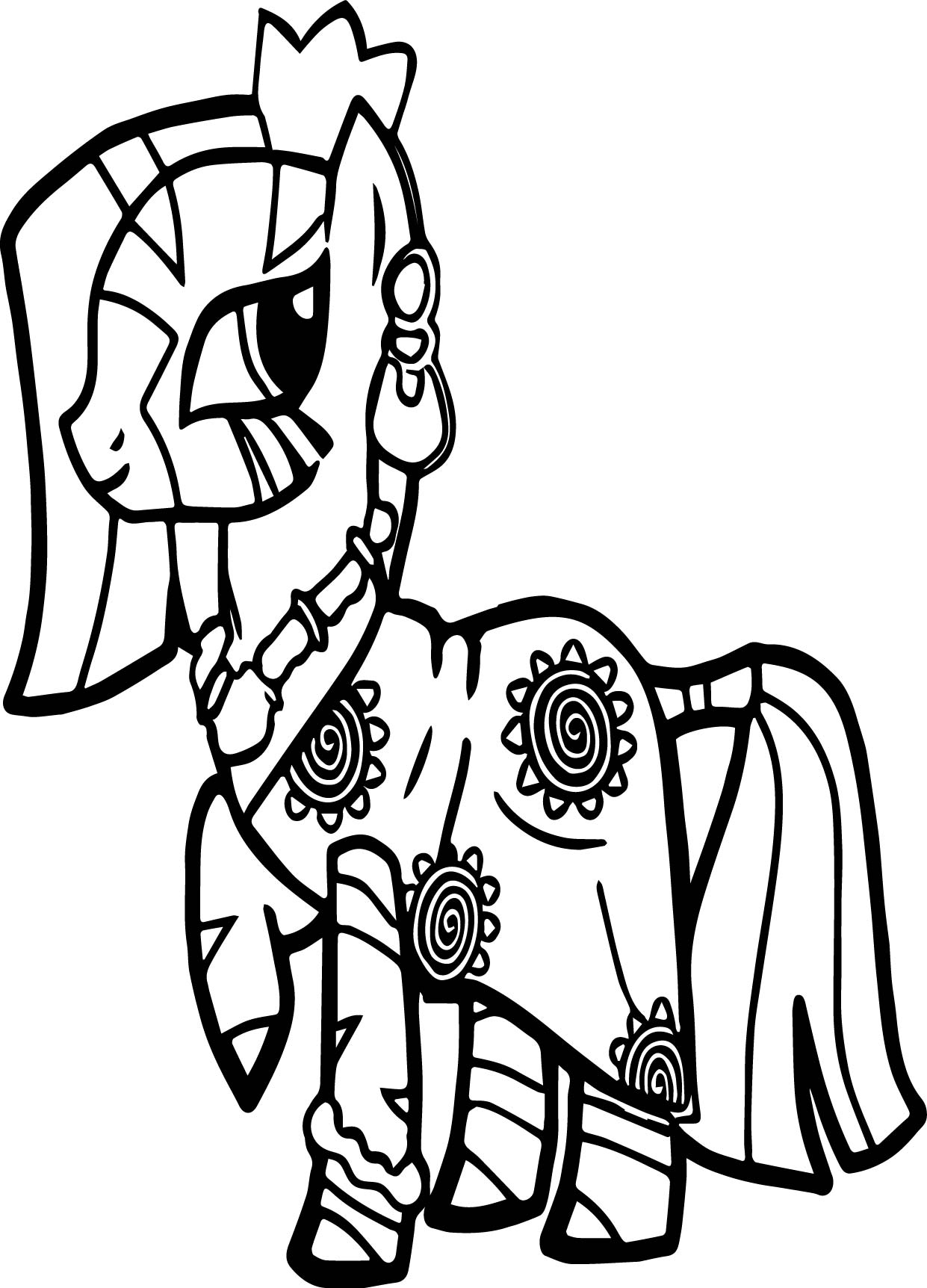 Zecora Gala Dress Coloring Page
