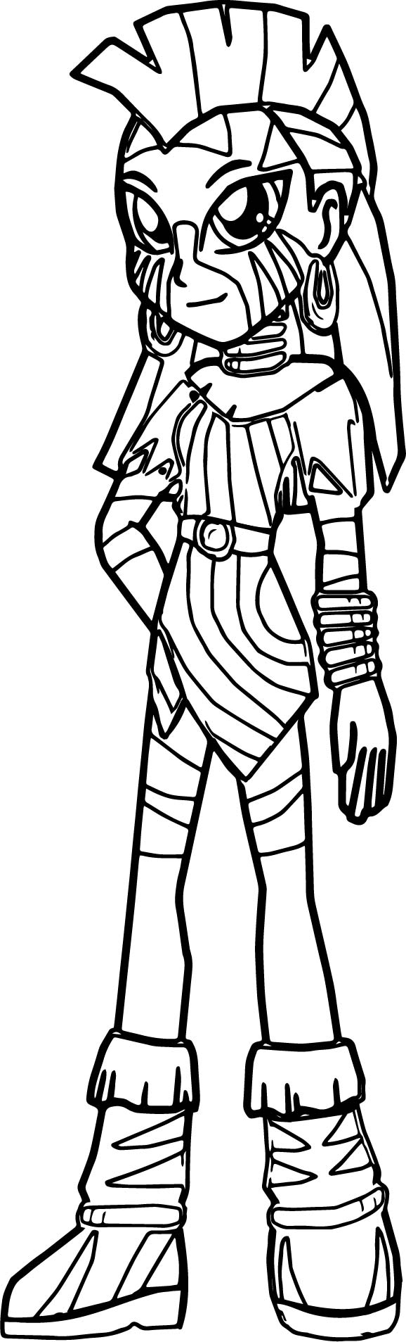Zecora Girl Wait Coloring Page