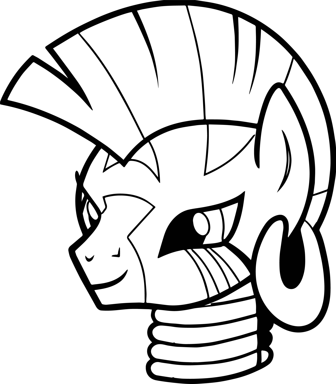 Zecora Head Coloring Page