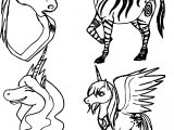 Zecora Horses Draw Coloring Page