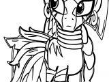 Zecora Leaf Dress Cartoon Coloring Page