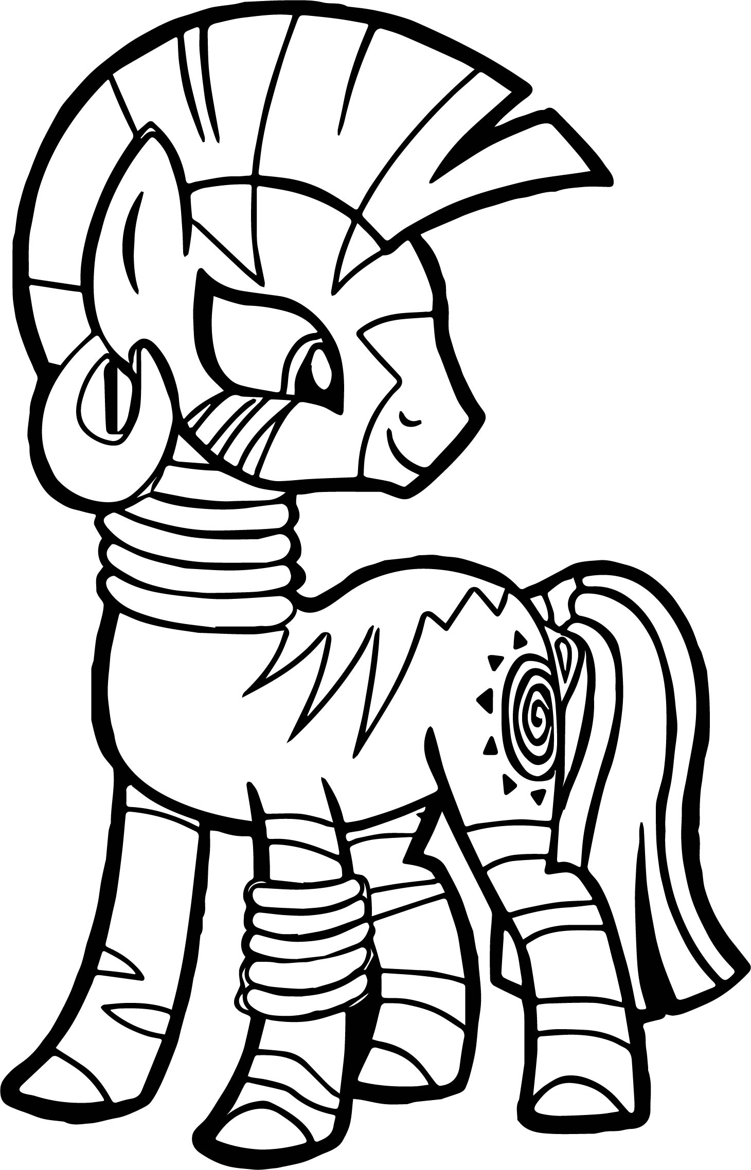 My Little Pony Zecora Coloring Pages : Zecora look back coloring page wecoloringpage