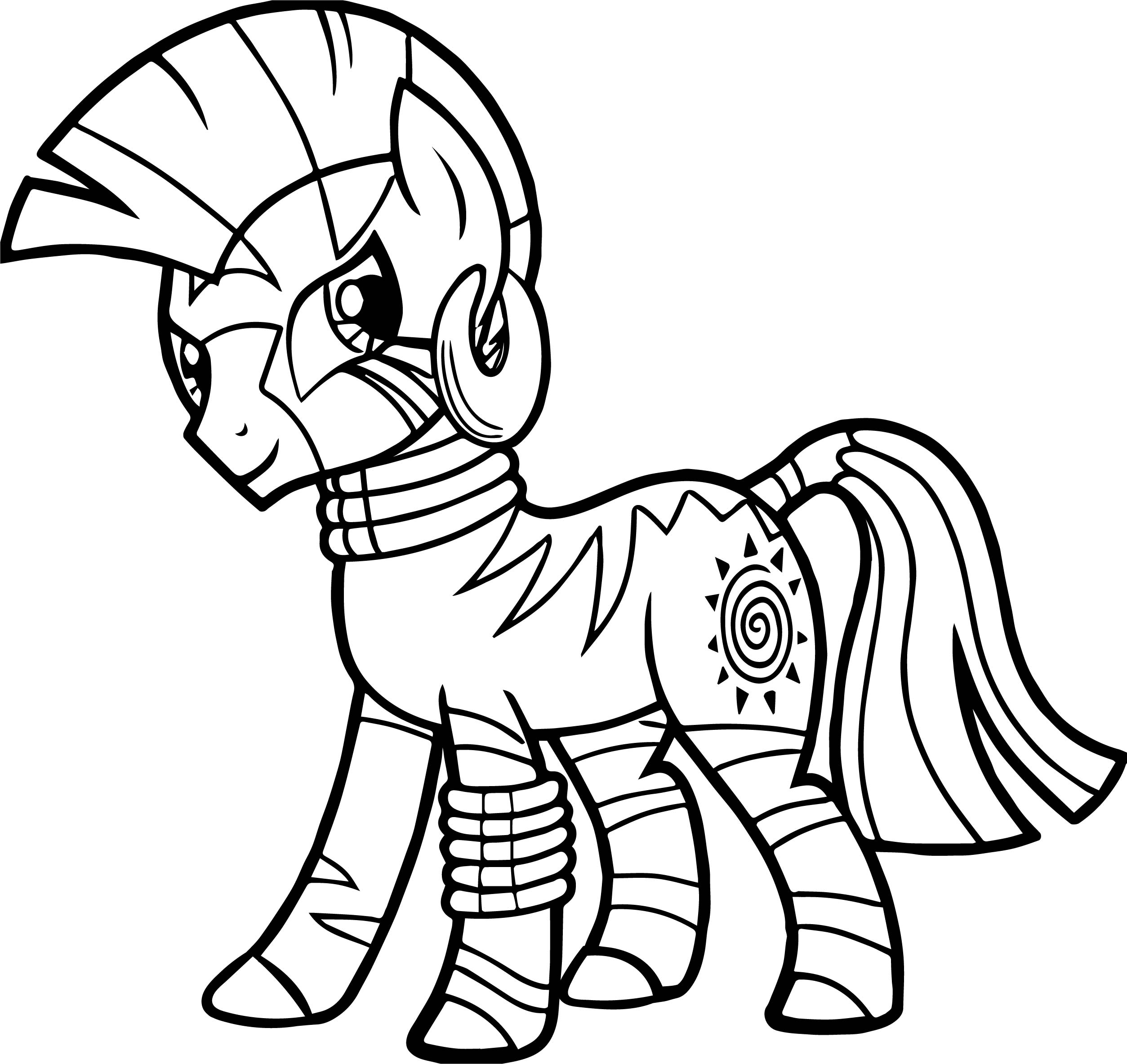 Zecora Look Coloring Page