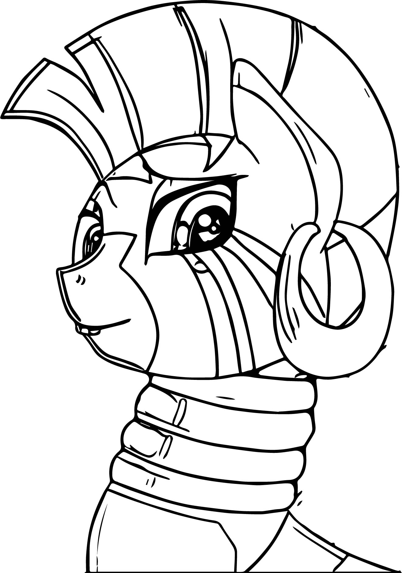 My Little Pony Zecora Coloring Pages : Zecora looking coloring pages wecoloringpage