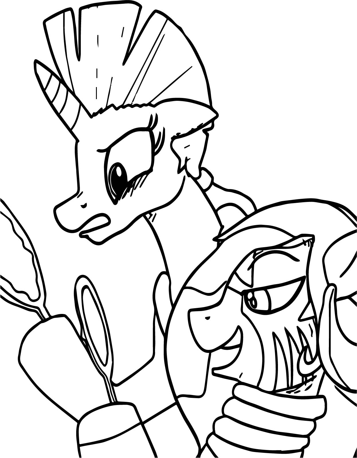 Hand Mirror Coloring Page Zecora Looking