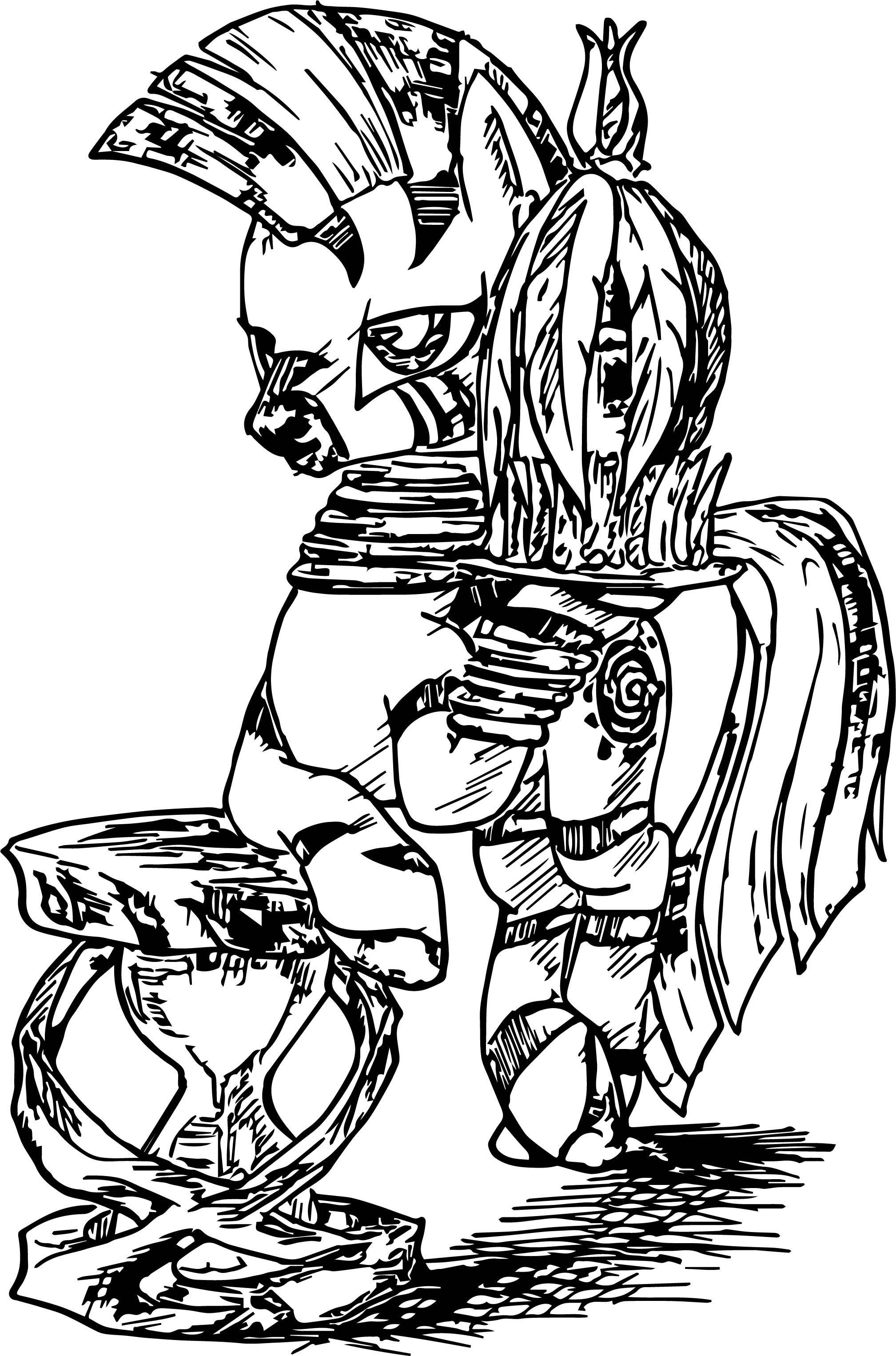 Zecora Sketch Coloring Page