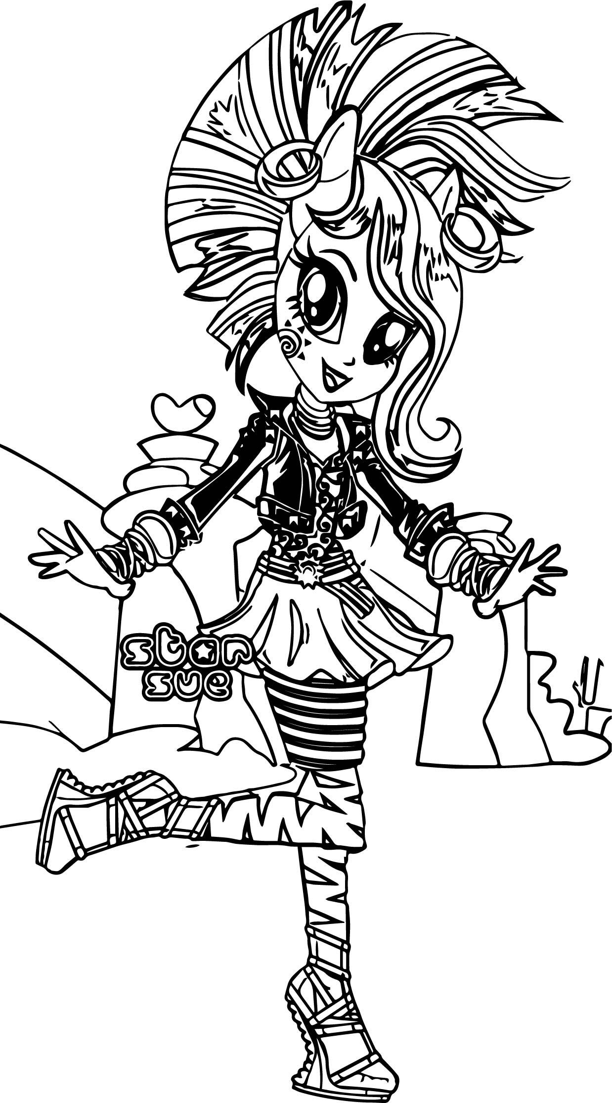 Zecora Star Sue Coloring Page
