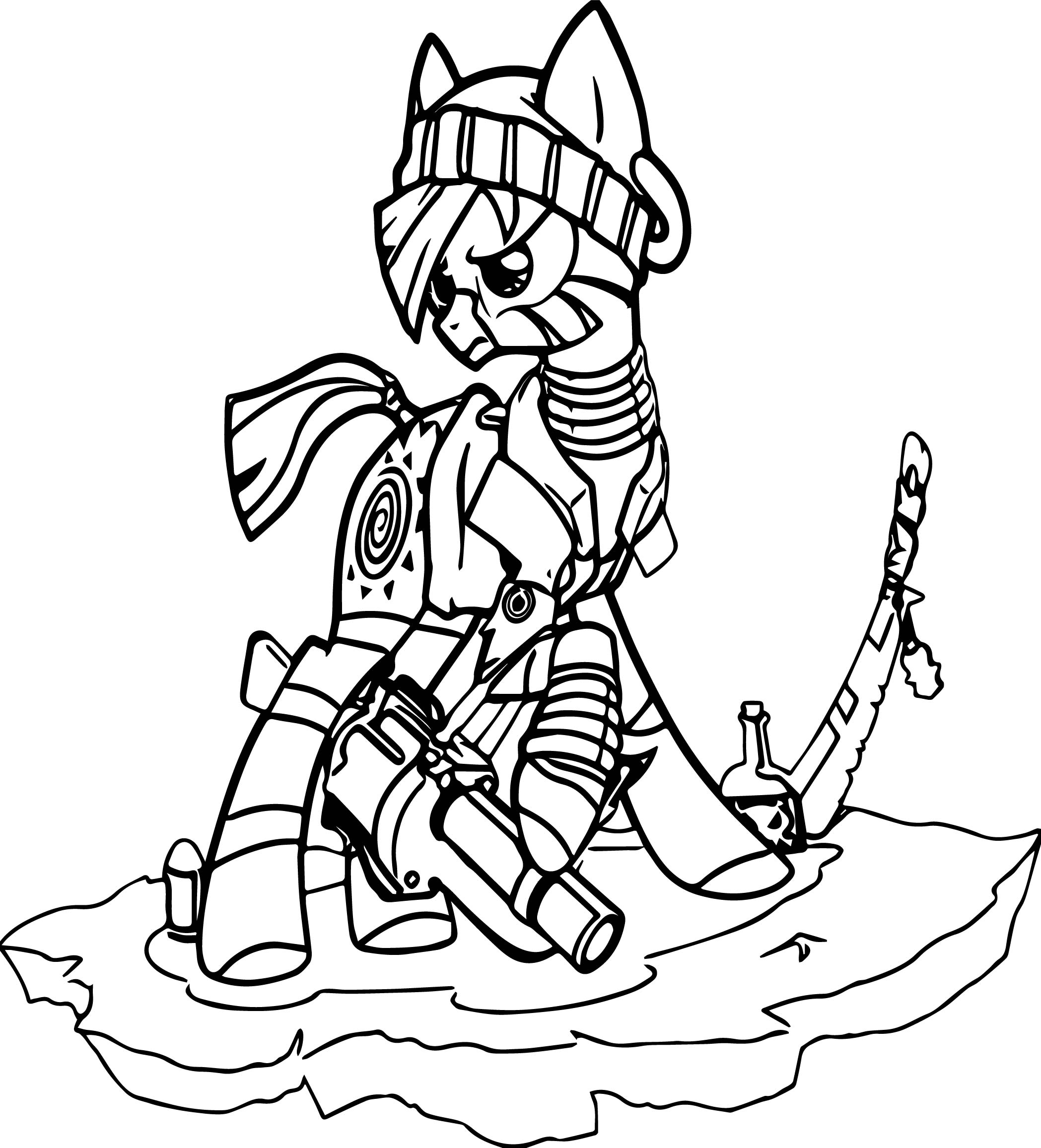 Zecora The Early Years Gun War Coloring Page