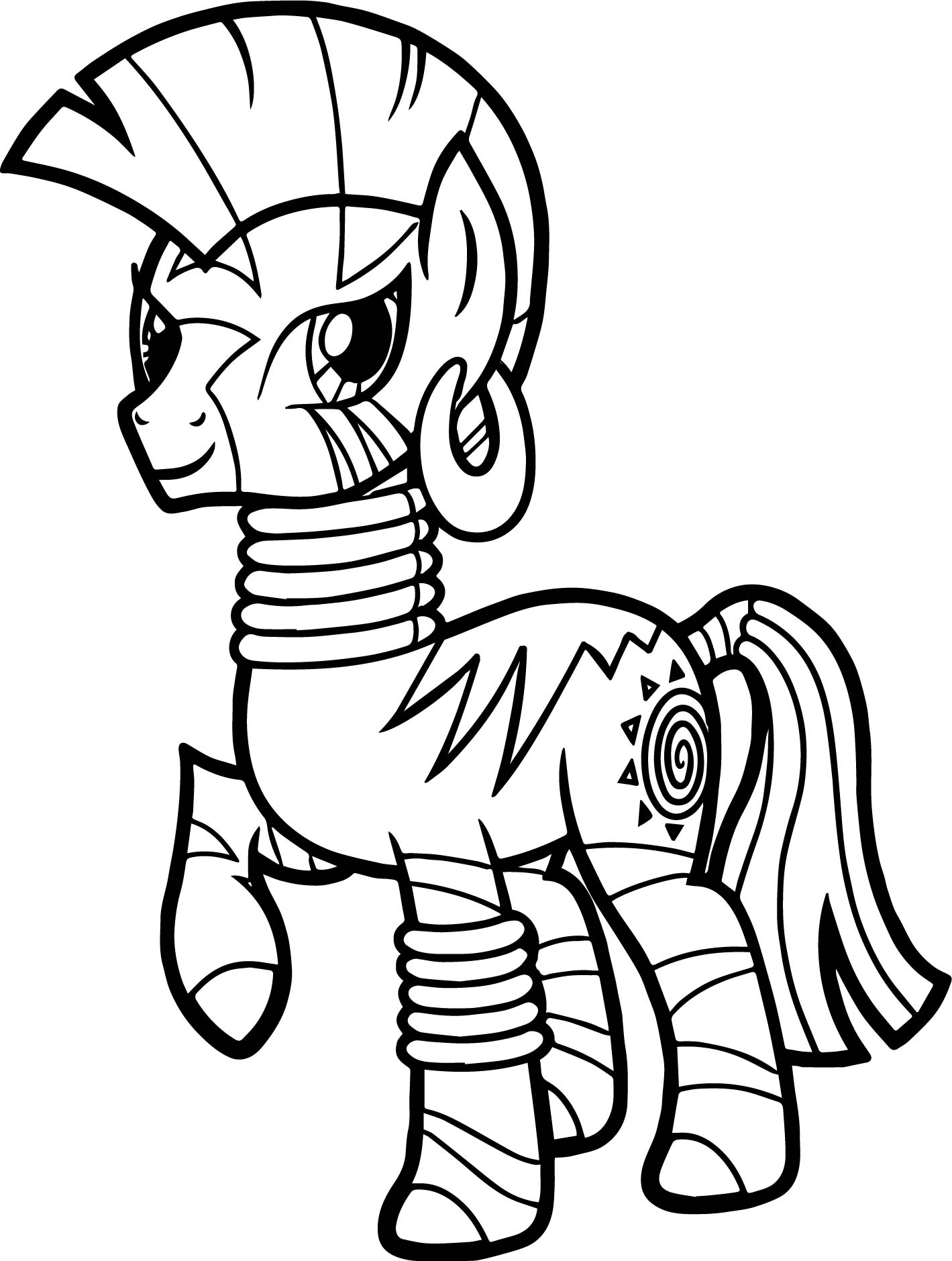 Zecora Walking Coloring Page
