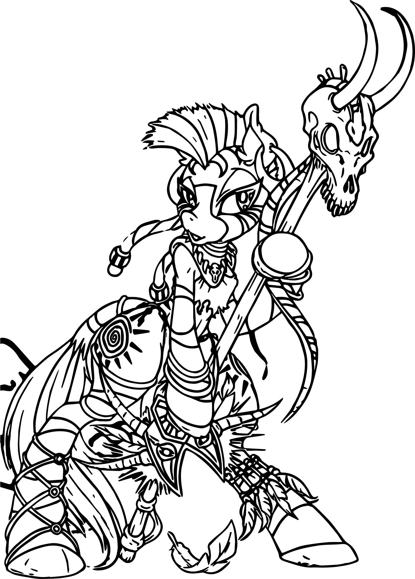 zecora witch doctor color anime apothecary coloring page