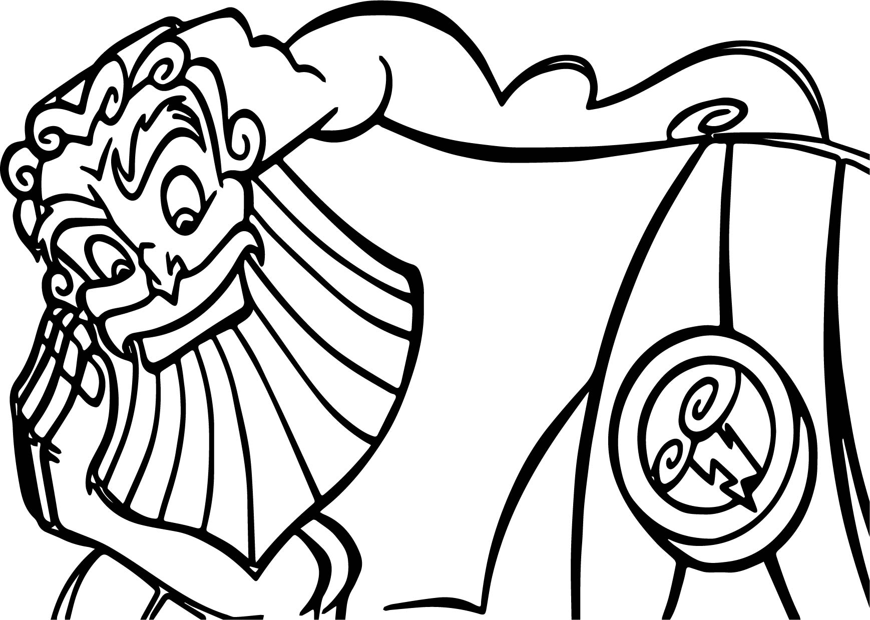 Zeus hercules looking coloring pages for Zeus coloring page
