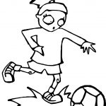 Zombie Girl Kids Playing Soccer Playing Football Coloring Page