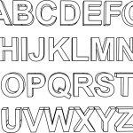 3D Alphabet Coloring Page