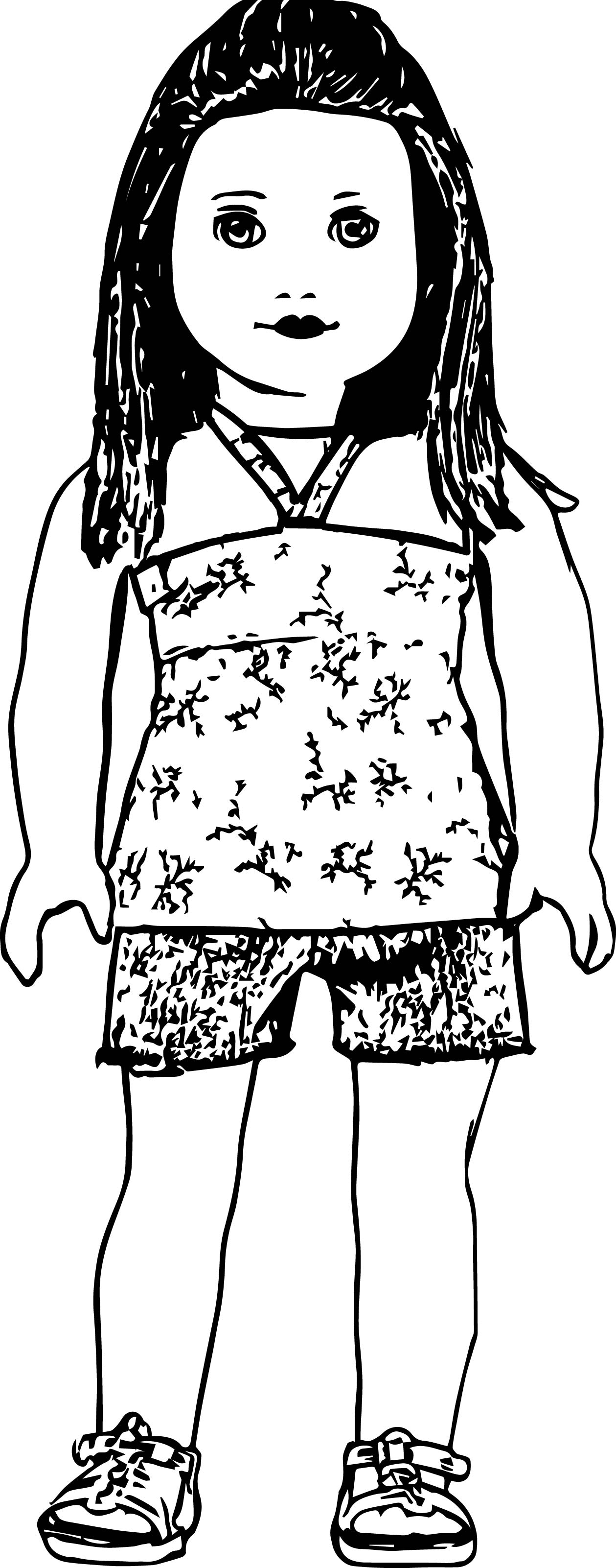 Ag bandeau doll coloring page for American girl doll coloring page