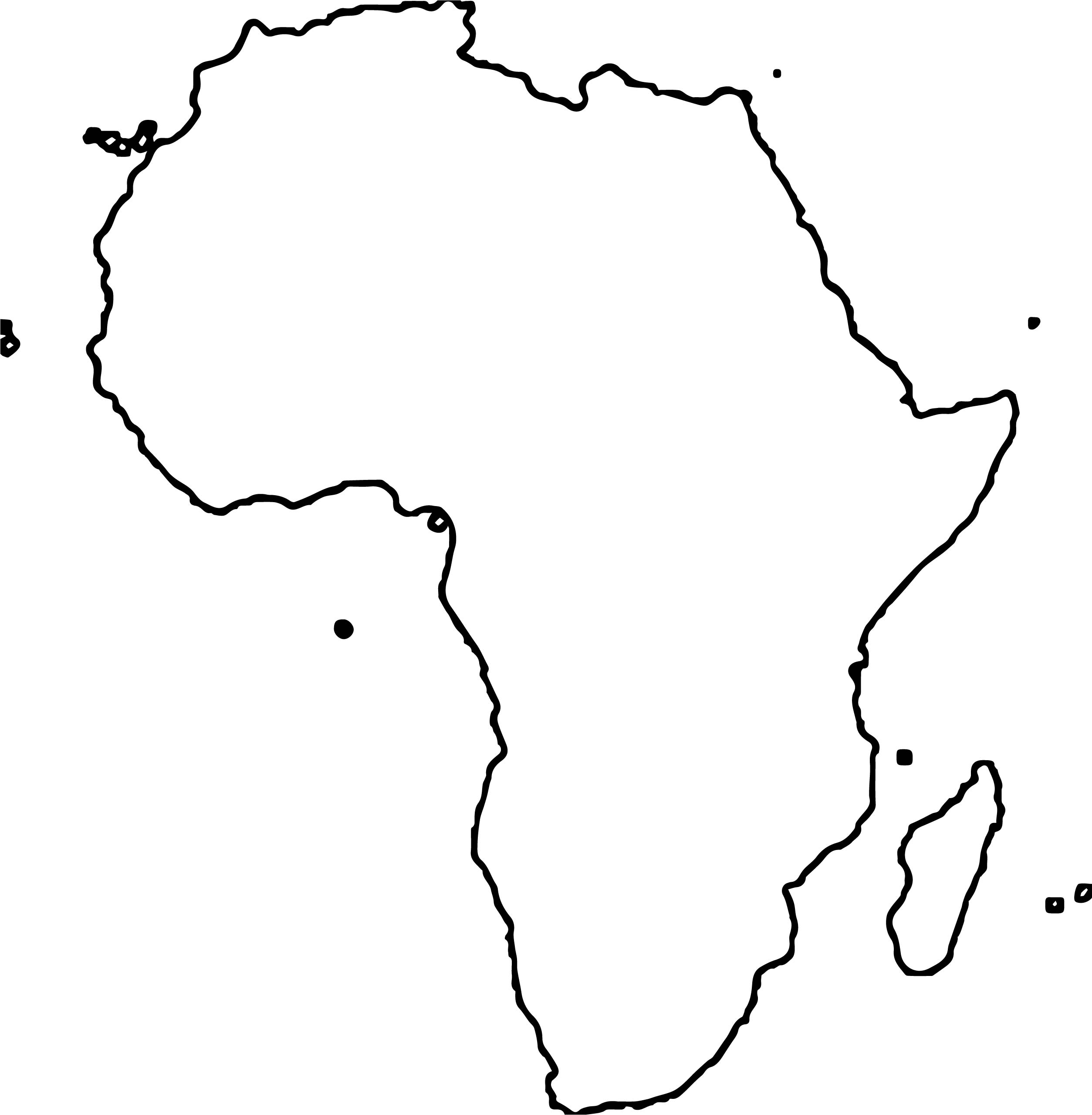 printable african map with countries labled  Free