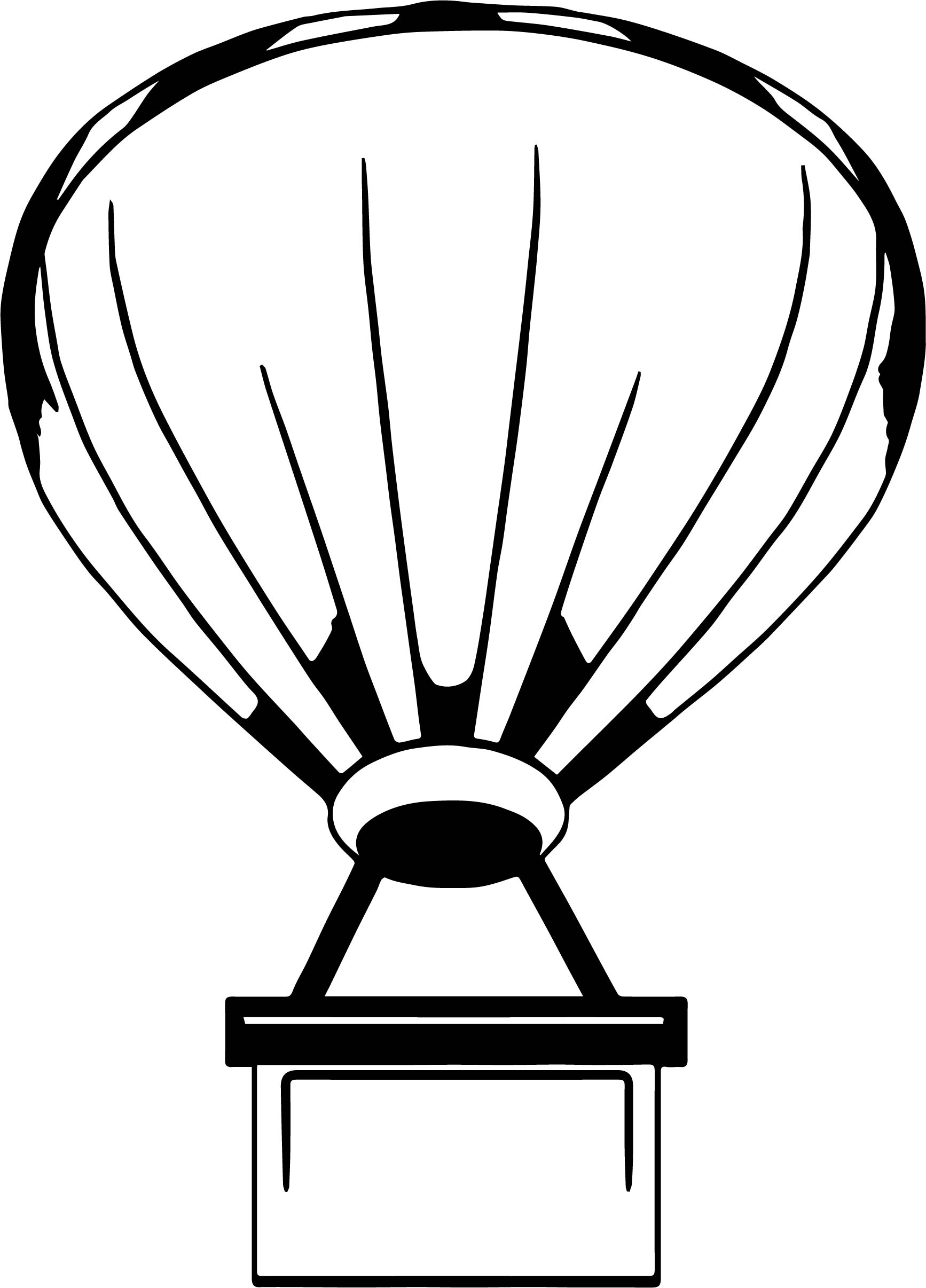 Air Balloon Box Coloring Page
