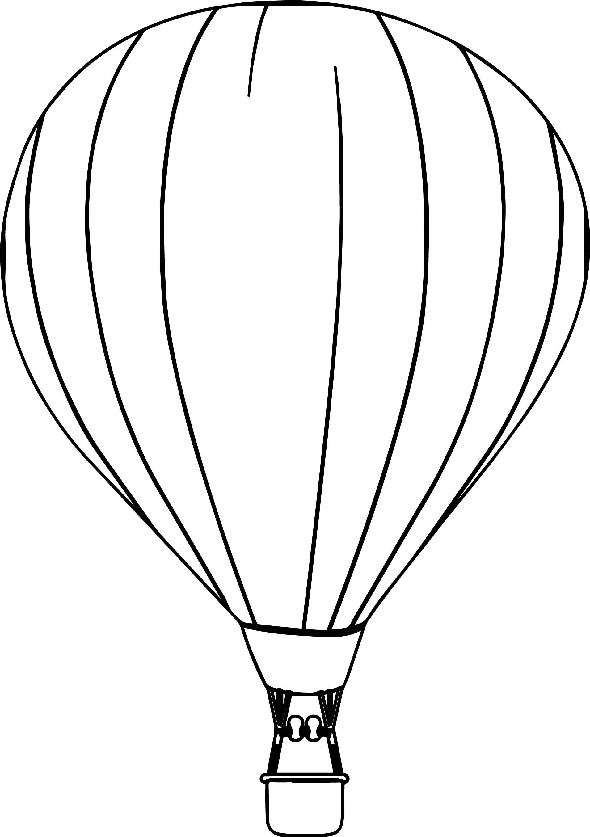 Air Balloon Free Coloring Page