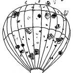 Air Balloon Smoke Coloring Page