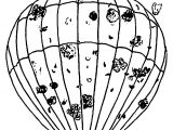 Air Balloon Smoke Coloring Page