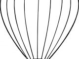 Air Balloon Under Bucket Coloring Page