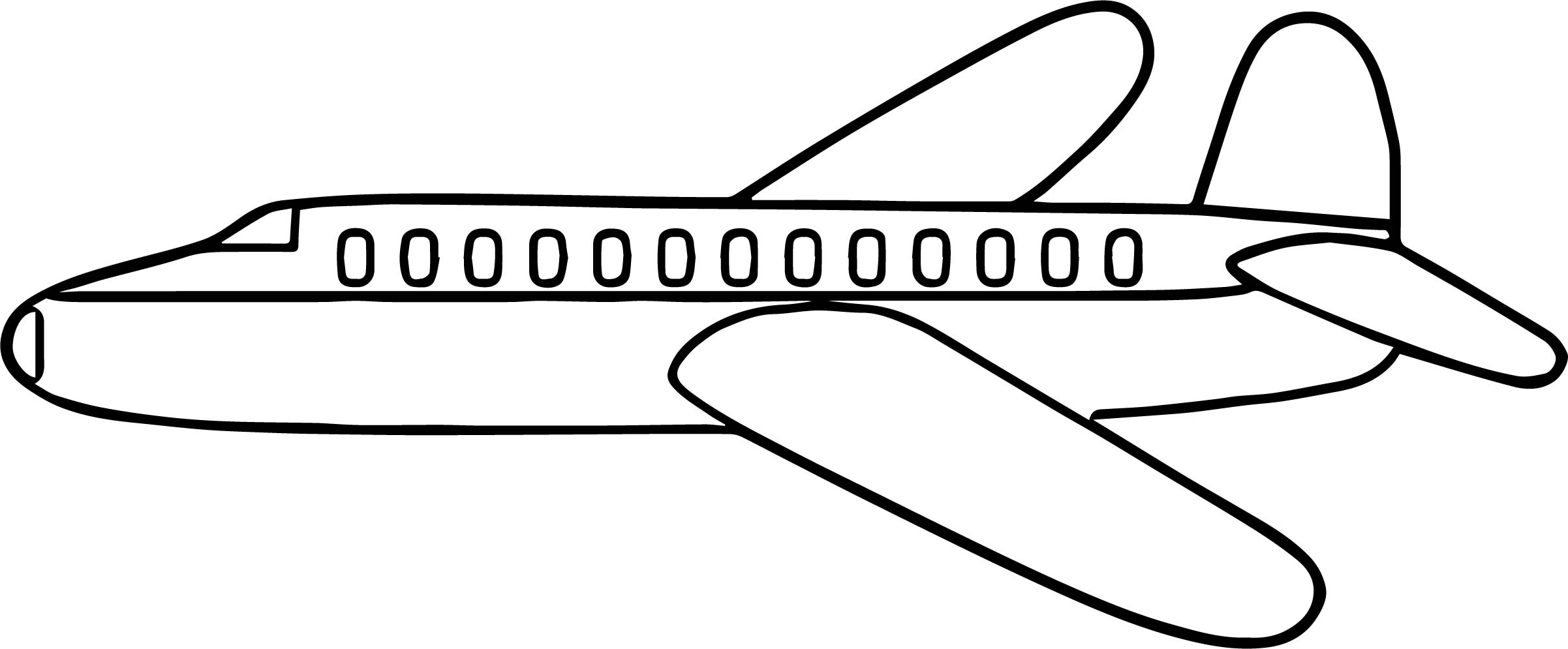 airplane side coloring page wecoloringpage