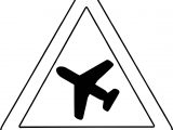 Airplane Sign Coloring Page