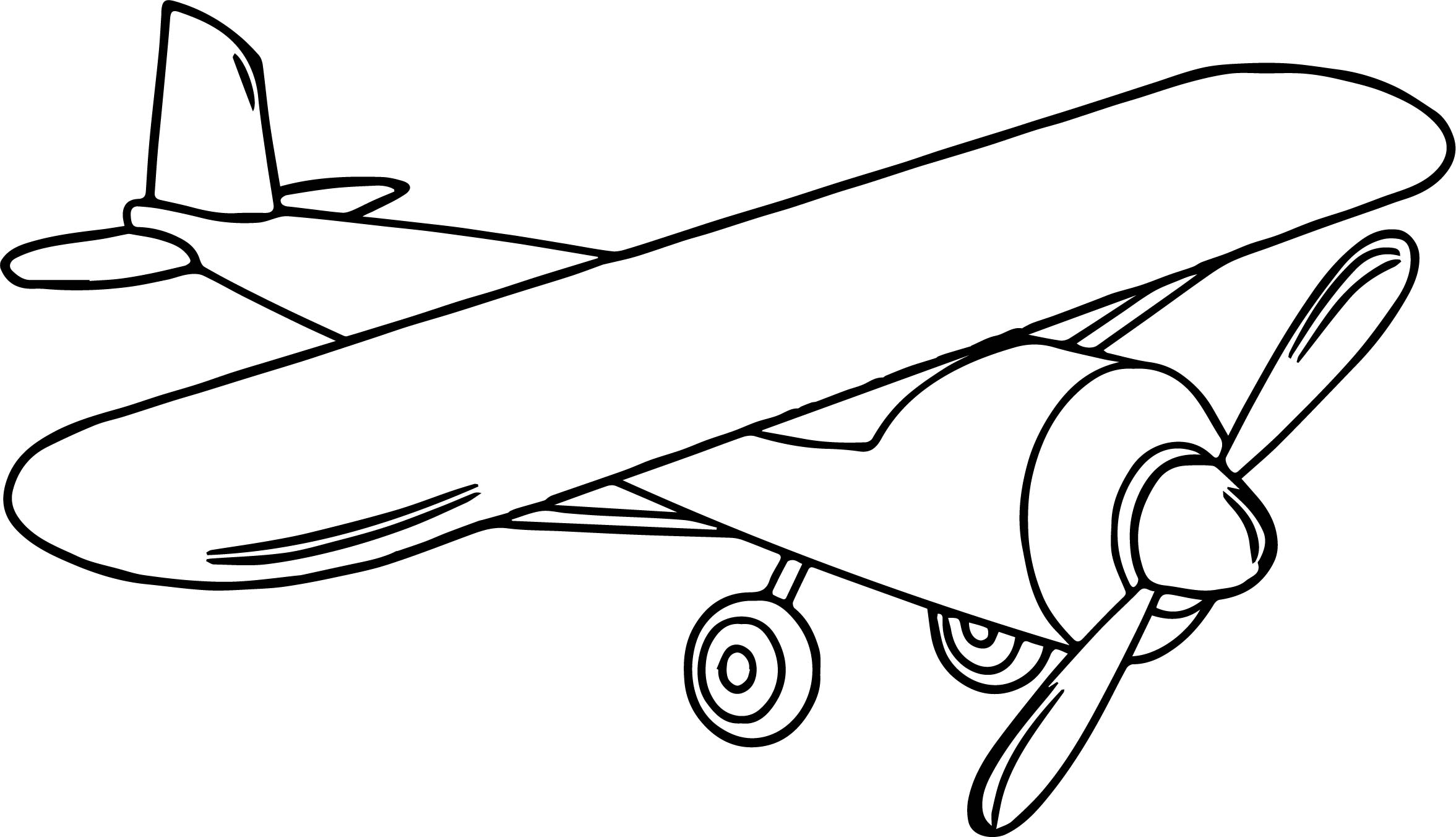 Airplane Toys Coloring Page