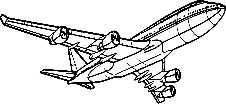 Airplane Transit Coloring Page
