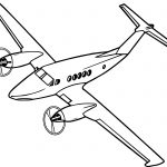 Airplane Two Engine Coloring Page