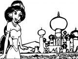Aladdin Yasmin Coloring Page