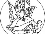 Alice In The Wonderland Circle Coloring Page