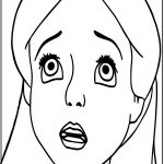 Alice In The Wonderland Cute Sad Face Coloring Page