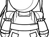 Alice In The Wonderland Figure Coloring Page
