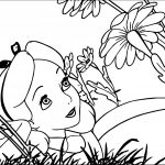 Alice In The Wonderland Flower Coloring Pages