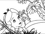 Alice In The Wonderland Flower Coloring Page