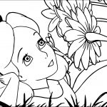 Alice In The Wonderland Flower Picture Coloring Page