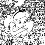 Alice In The Wonderland Garden Coloring Page