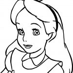 Alice In The Wonderland Girl Coloring Page