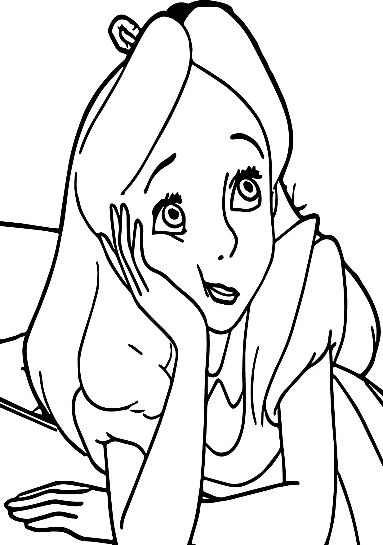 alice in the wonderland i am boring coloring page wecoloringpage