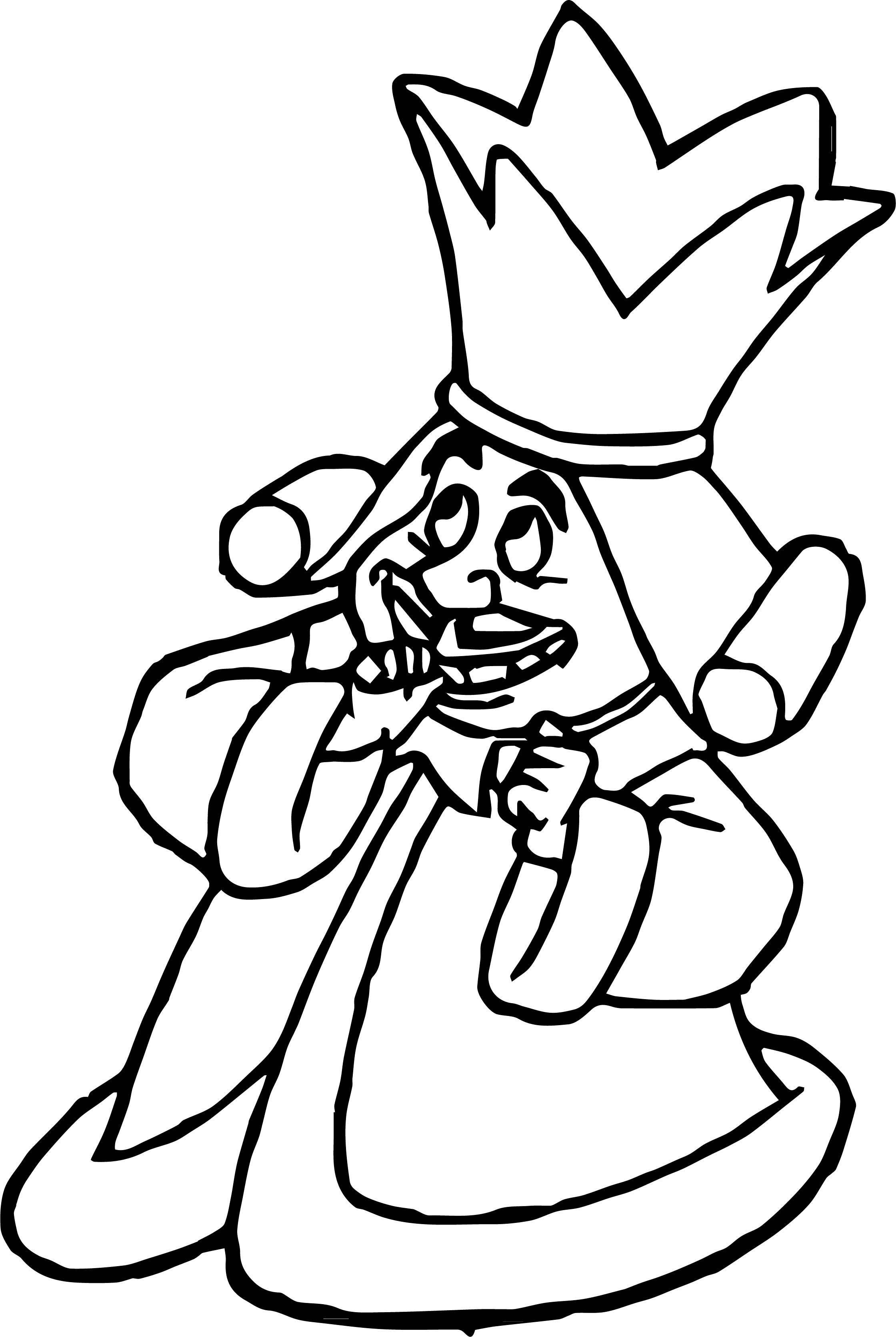 Alice In The Wonderland Small King Coloring Page