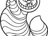 Alice In The Wonderland Winner Cat Coloring Page