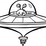 Alien Flying Saucer Coloring Page