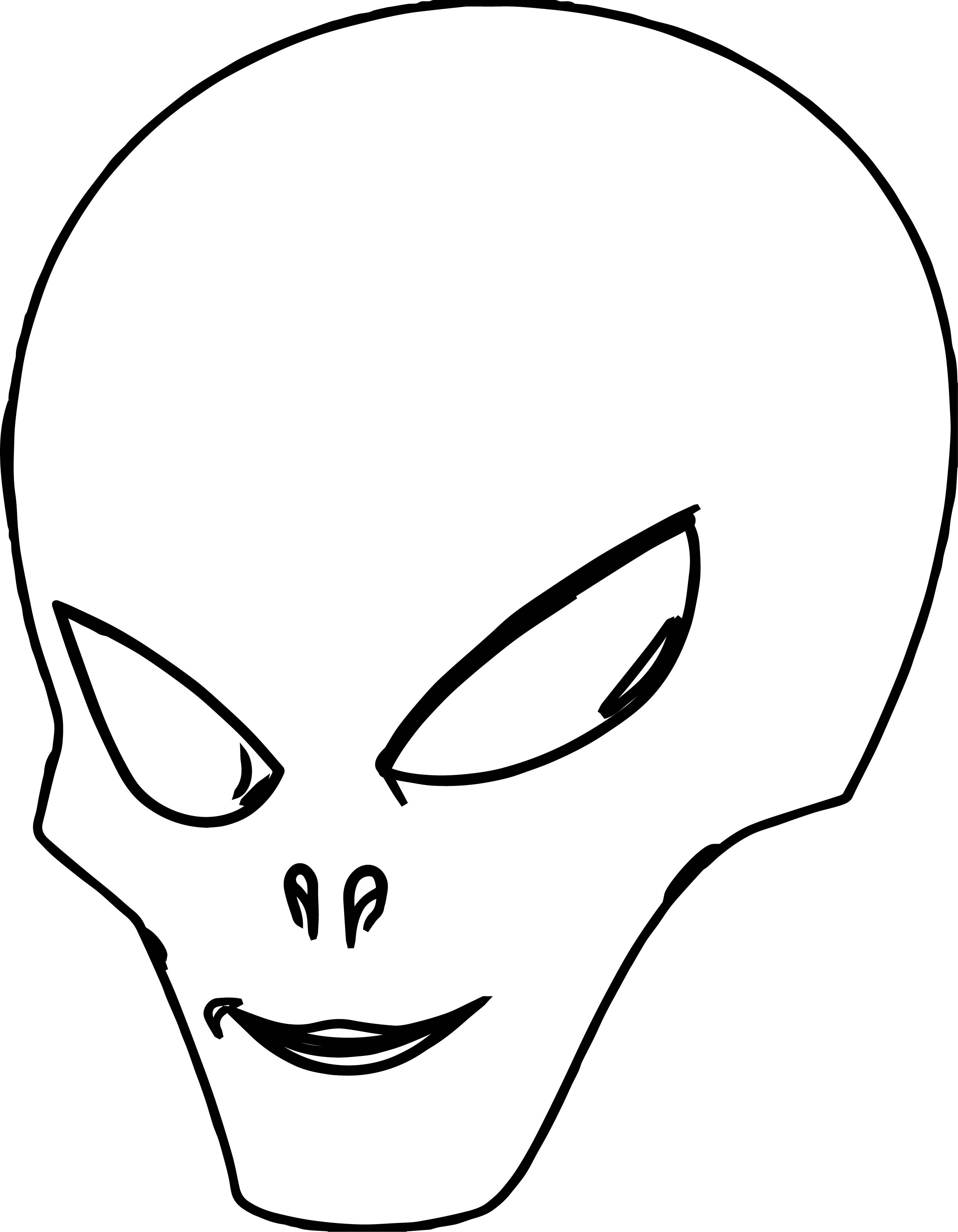 Alien Head Coloring Page