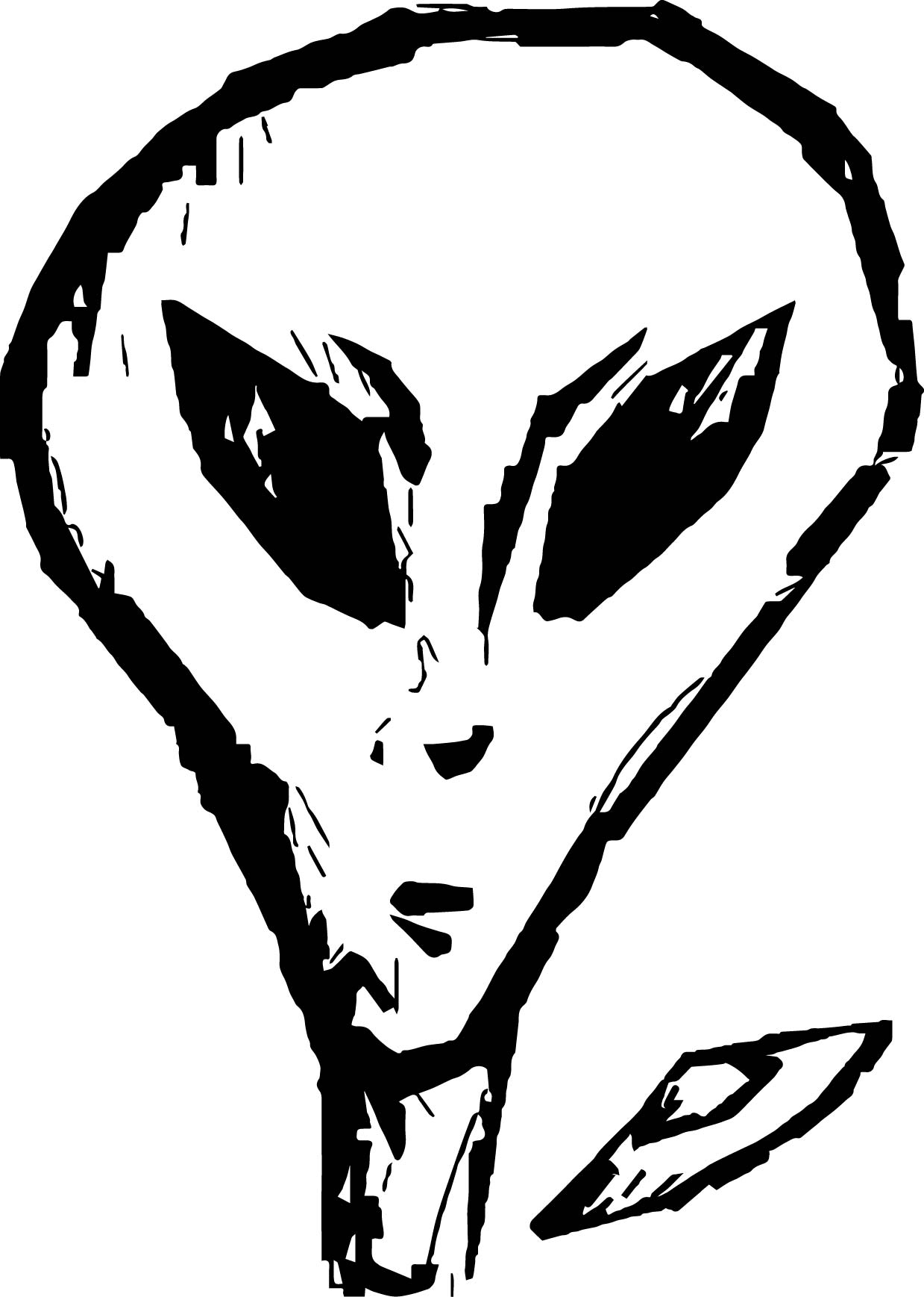 Alien Square Face Coloring Page