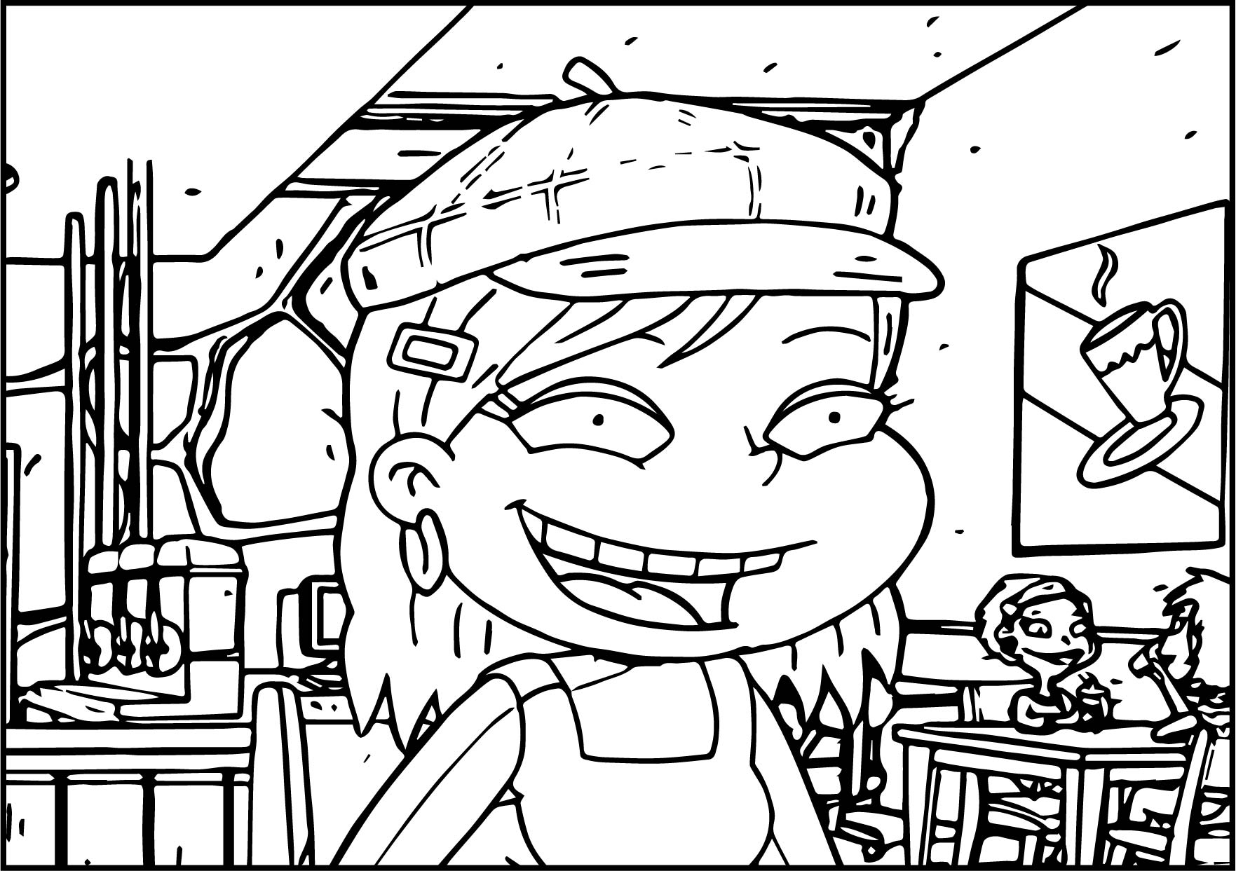 All Grown Up Angelica Cafe Coloring Page | Wecoloringpage.com