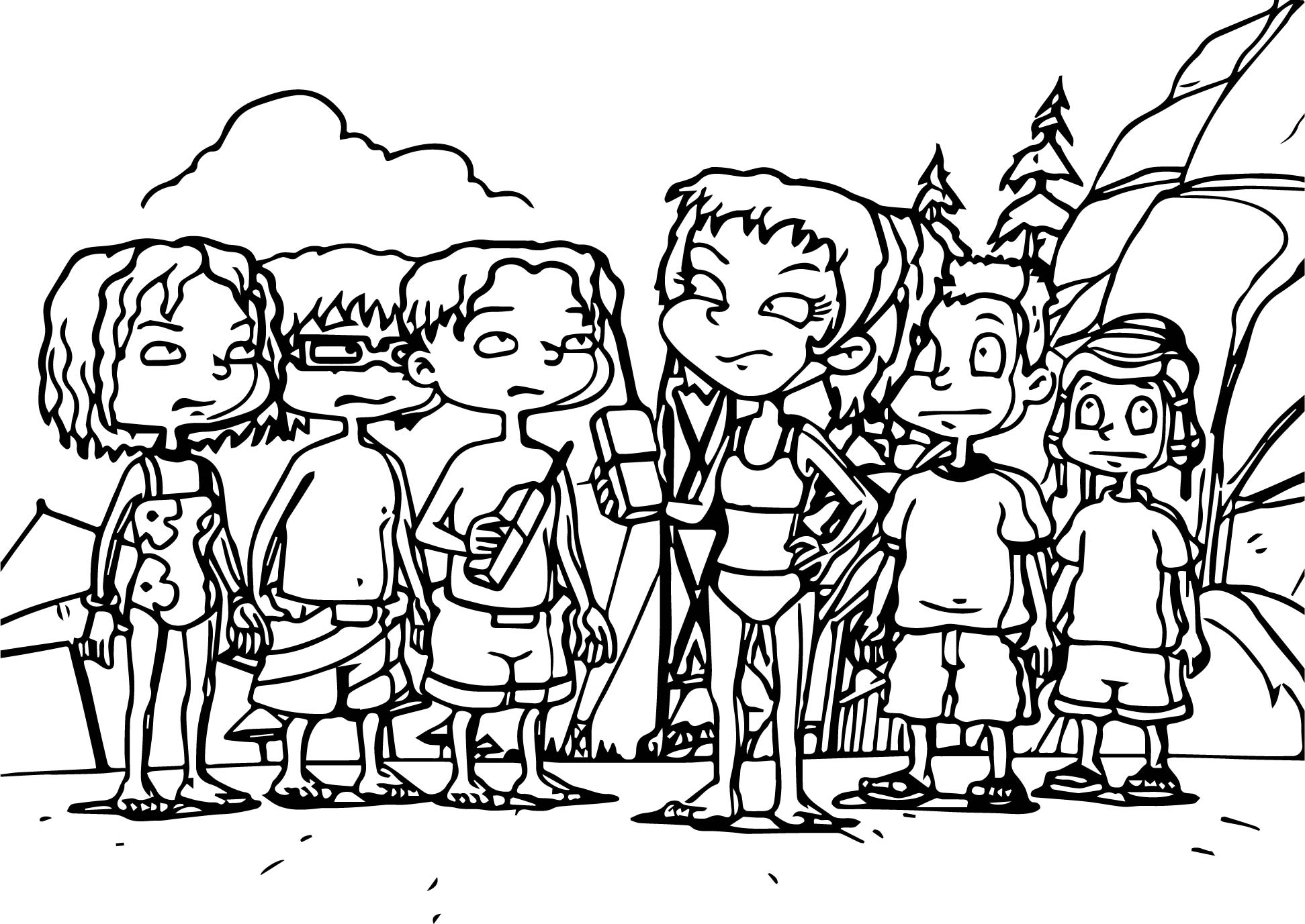 All Grown Up Friends Beach Coloring Page