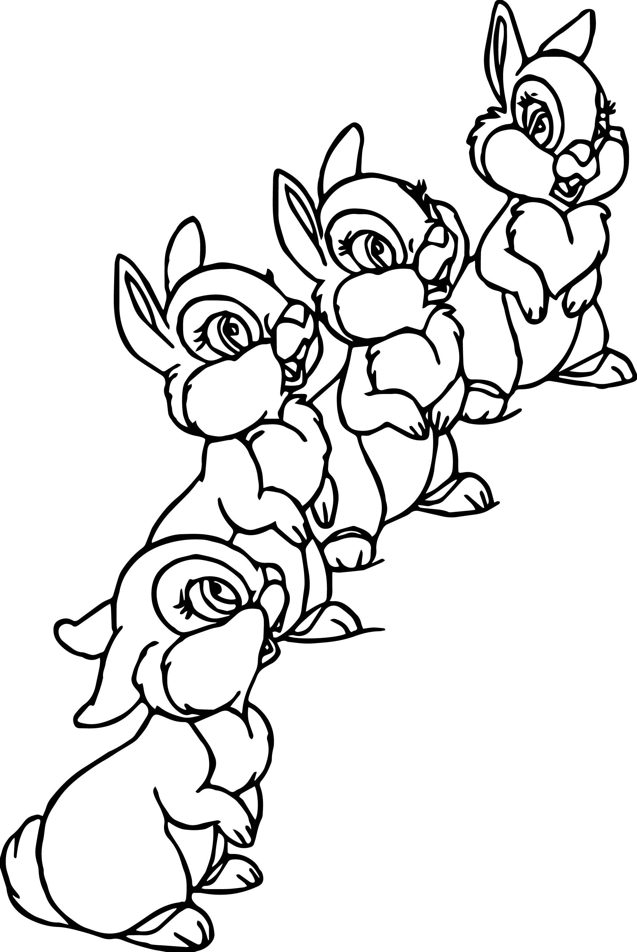 All Thumper Thumpers Sisters And Miss Bunny Coloring Pages